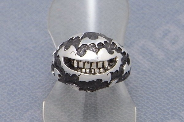 "vampire bats halloween smile jewelry ring sterling silver "" vampire smile ring "" s_m-R.28 ( 万圣节前夕 吸血鬼 蝙蝠 微笑 銀 戒指 指环 )"