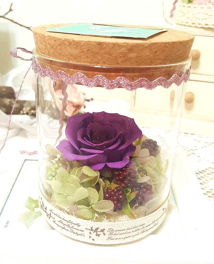 l bottle of elves with glass bottle ceremony - love purple l*lover*love*decoration*non-withered flower. star flower. immortal flower * exchange gifts