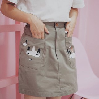 Mini Skirt : Brown