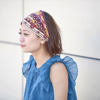 Made in JAPAN 100% Cotton Hairband Boho Chic Unique Yoga Sports Headband