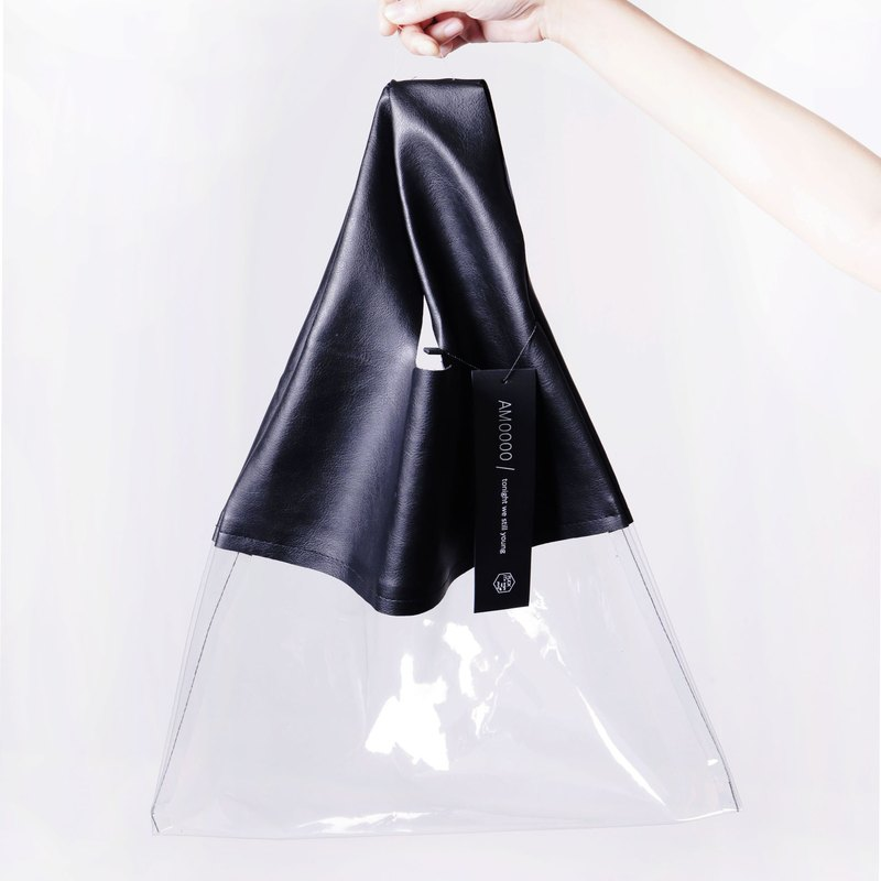AM0000 ||| ice cream bag ice cream bag transparent (cool black / baby pink / ice blue)