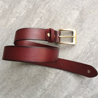 Red-brown minimalist men's belt / belt