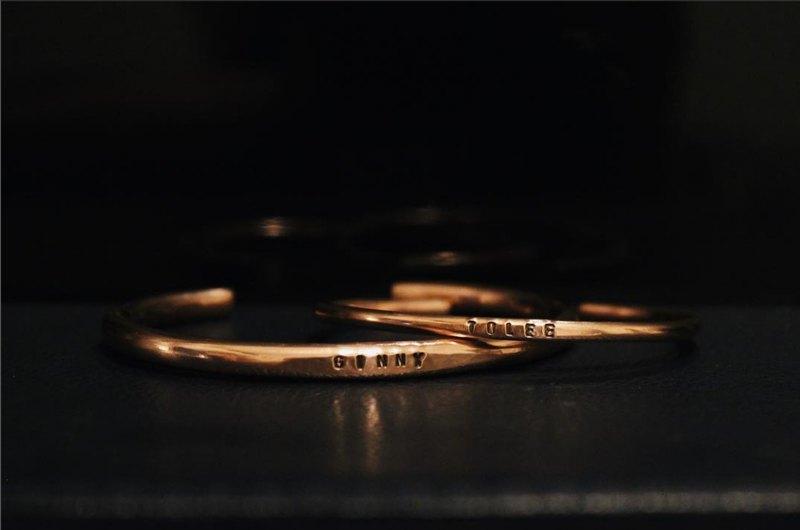 手工  I  刻字訂製  I  紅銅  I  手環  I  2-6mm  I   客製禮物