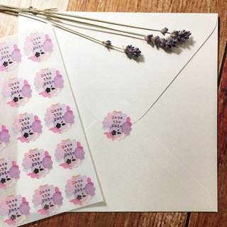 Save the Date * floret hot silver stickers