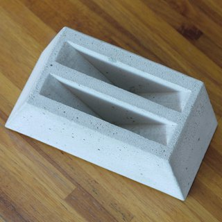 Trapezoidal cement filter holder