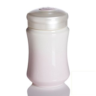 Dry Tangxuan live porcelain - smile curve cup / small / single / white pink