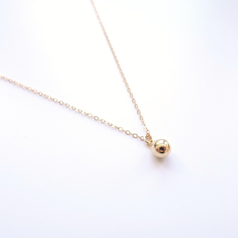Simple Ball Charm 14K Gold Filled Necklace