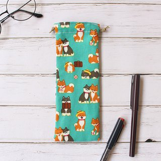 Shiba Inu with friends pencil case / bundle pocket pencil case storage bag