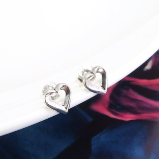 Earrings small love frame 925 sterling silver earrings