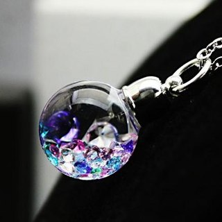 New Bijou glass Ball Pendant L clear system multi mix color