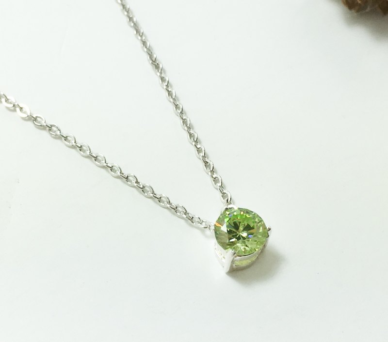 Birthstone Series / August / Peridot PERIDOT / Necklace / Birthday Ceremony