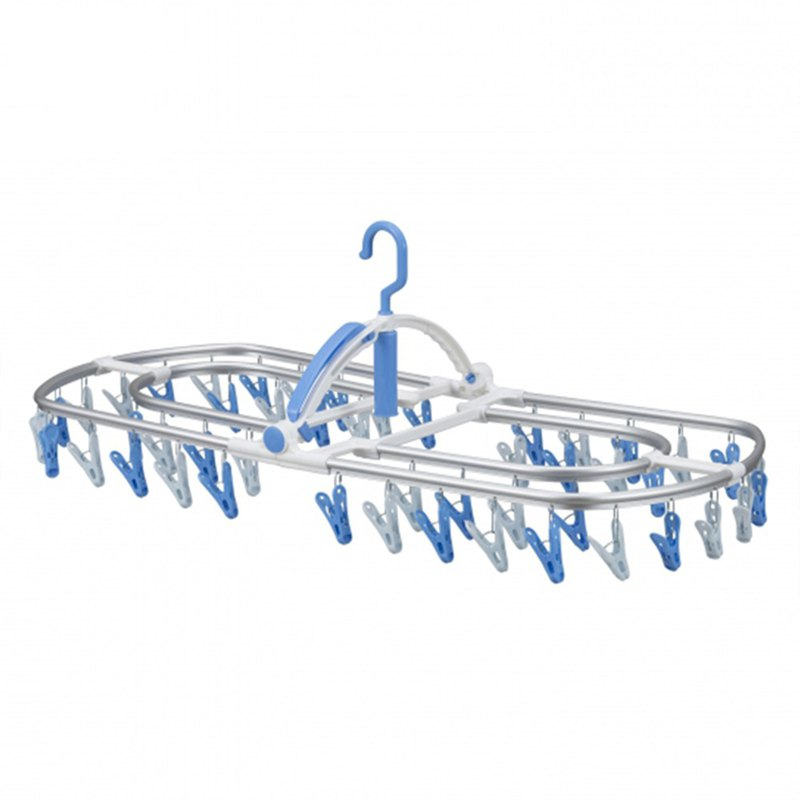 CB Japan Kogure Sky Series Aluminum Clothes Hanger 48 Clips - Blue / White