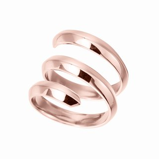 Rose Gold Dipped 925 Sterling Silver Ring, Cool Mens Ring, Promise Ring for Guy