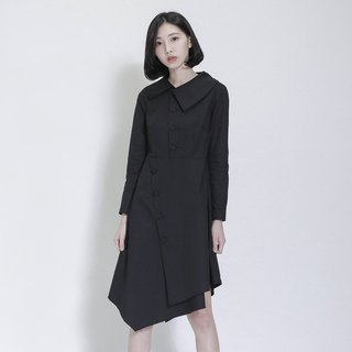 Diurnal Day and Night Asymmetrical Dress_7AF116_Black Stripe