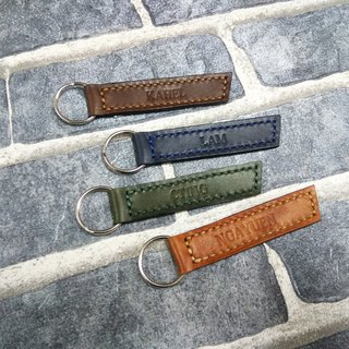 Handmade, custom leather tag key ring, custom leather color, can be engraved.