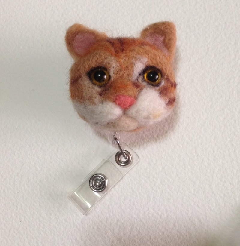 [Wool felt] orange cat