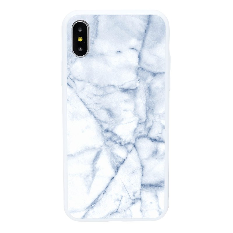 Ice Blue Marble iPhone 6 7 8 Plus X XS XR XSmax Phone Case