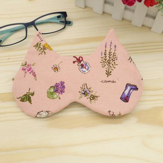 Light pink flower sleep goggles attached to the mouth of the bag bag sleep mask*SK*