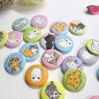 Colorful series of small badges