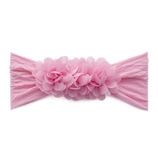 Baby Bling Chiffon Small Flowers Wide Hairband Purple Pink SeriesTM160719003