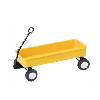 Japan Magnets retro industrial wind table type cute stationery / tool sundries storage trolley (yellow)