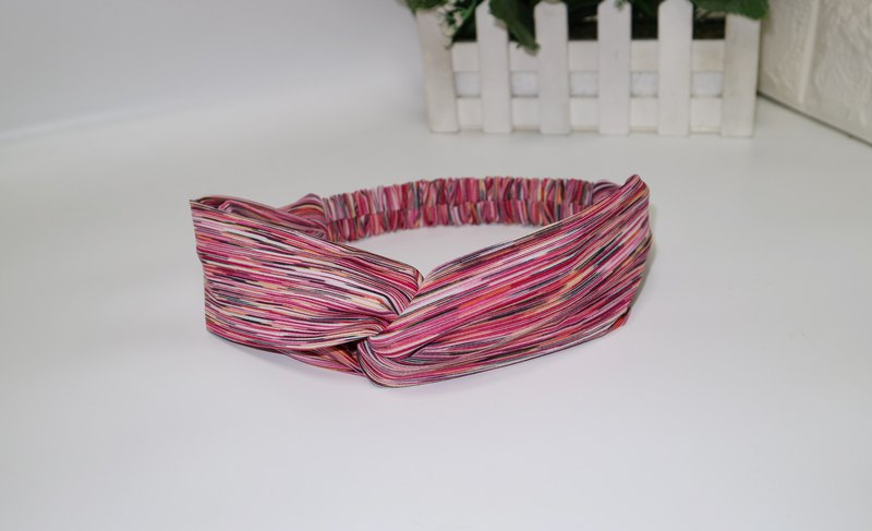 Colorful elastic cross hair band