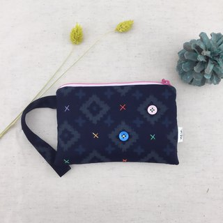 Quiet blue - hand take purse / cosmetic bag / sundries bag - light and practical