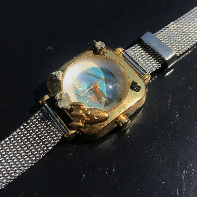 【Lost And Find】Natural  galaxy star abalone watch