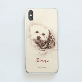 Customized character, pet portrait phone case (sketch style)