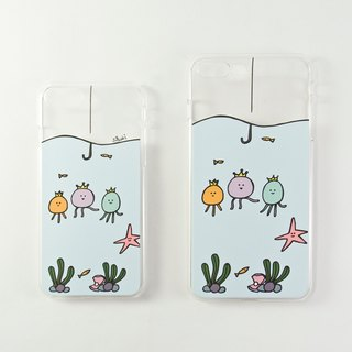 Transparent iPhone Case for 7 / 7Plus / 8 / 8Plus / Jellyfish