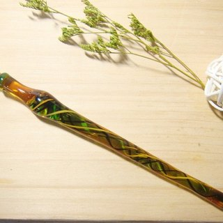 Grapefruit forest handmade glass - water dance ribbon (stable) - Glass pen - Glass pen - Dip pen