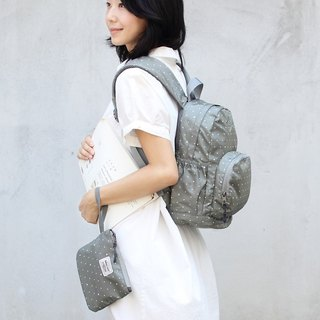 Stars~Mini water resistant backpack(12'' Laptop OK)-Grey_100368-03