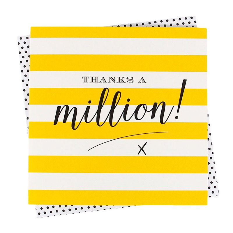 Give a million thanks [Clare Maddicott INK Card - Unlimited Thanks]