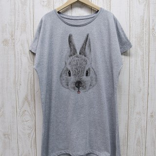 ronronRABIT One piece Tee Beh (Heather Gray) / RPT 045-GR