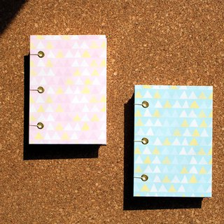 Hand-painted wind light blue hardcover hand-sewn notebook