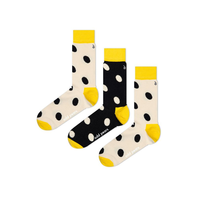 Odd Pears strange pear three feet socks dogmot ink cream creative yellow black and white wave point a pair of three