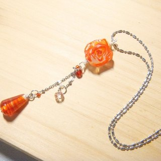 Grapefruit forest handmade glass - Blessing from roses (orange models) - Technology x Design section