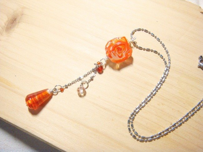 Grapefruit Forest Handmade Glass - Blessing from Roses (Orange) - Technical x Design