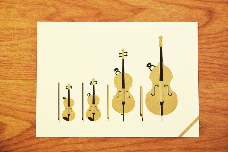 String family - music postcard