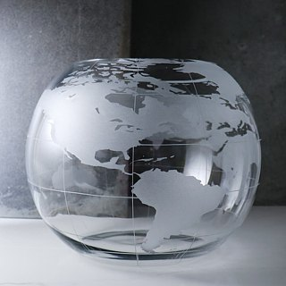 [30cm] Around the World Earth fishbowl world map aquarium 16 inches