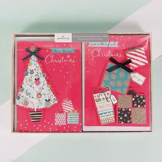 Three-dimensional Christmas tree and gift box 2 [Hallmark-card Christmas series]