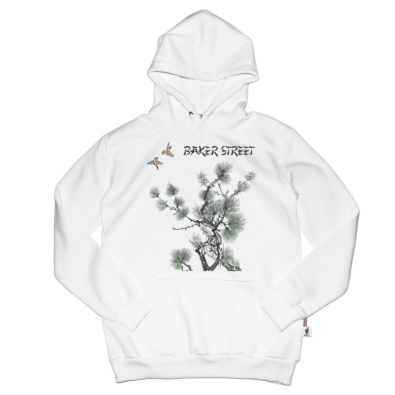 British Fashion Brand -Baker Street- Image of East Printed Hoodie