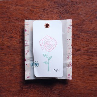 Page hand carved flower stamp