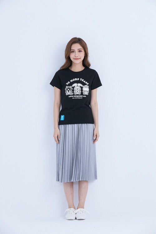 LAZYMARU-LM001533 Sweet Baby 6th Anniversary T-shirt Law Couples Taiwanese Wenchuang