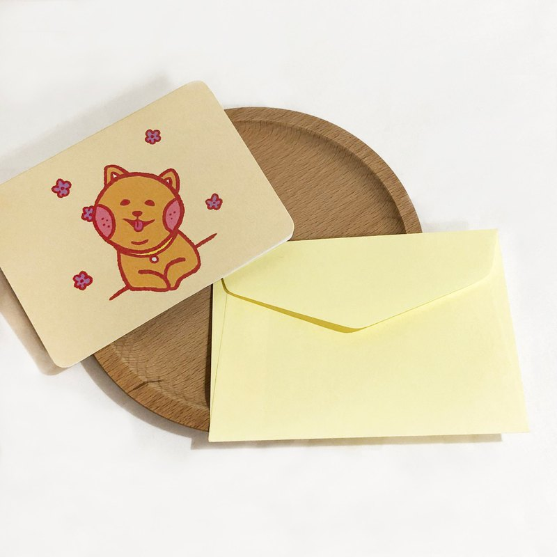 Folded small card - with envelope / hair child