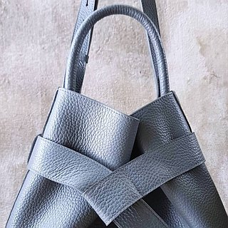 KANGAROO (Storm) Leather Bucket Bag