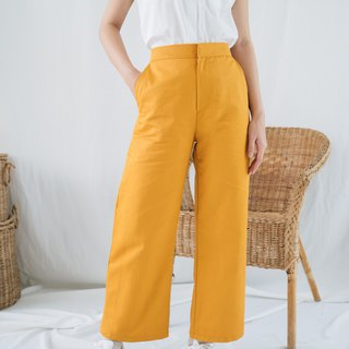 Cropped Pant - Yellow Mustard