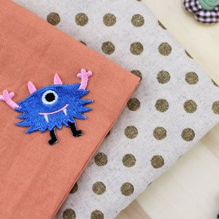 One eye frightened self-adhesive embroidered cloth stickers - Monster Planets whimsical world series