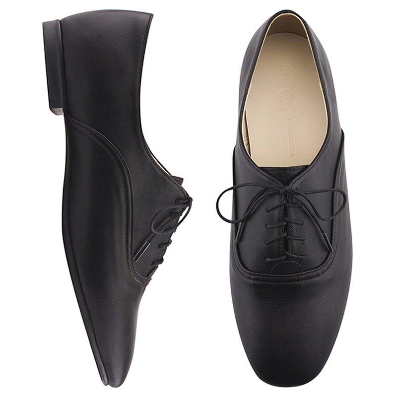 PRE-ORDER - SPUR 經典綁帶英倫牛津鞋 PS8015 BLACK
