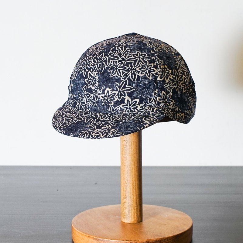 Handmade Cycling Cap - Japanese Floral Pattern
